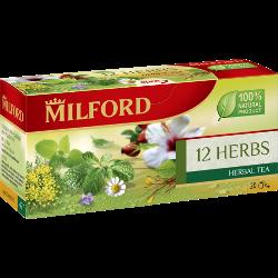 Напиток чайный Milford, 12 трав, пакетированный