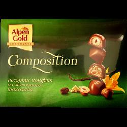 Конфеты Alpen Gold, composition