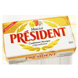 Масло President, сливочное, 82%