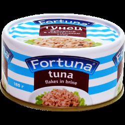 Тунец, рубленый, в собственном соку, Fortuna