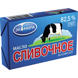 Масло сливочное, Гост, Экомилк, 82,5%