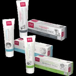 Зубная паста SPLAT, лечебные травы; отбеливание плюс; биокальций