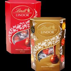 Конфеты Lindor, шоколадная начинка; ассорти, Lindt