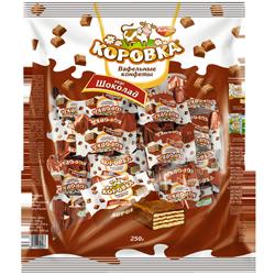 Конфеты Коровка, шоколадно-вафельные, Рот Фронт