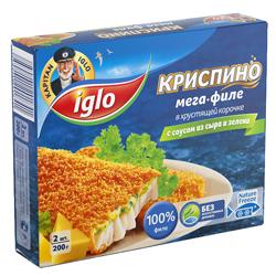 Мега филе IGLO с соусом из сыра и зелени