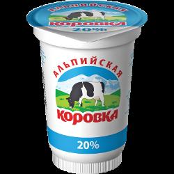 Продукт сметанный, Альпийская коровка, 20%