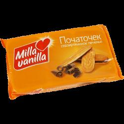 Печенье Початочек, глазированное, Milla Vanilla