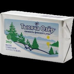 Масло сливочное, Тысяча озер, 82,5%