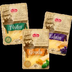 Сыр Гауда; Эдам; Тильзитер, Columbus, 45%