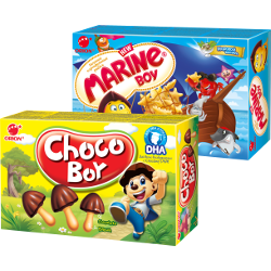 Бисквит CHOCO-BOY; Печенье MARINE BOY, Orion