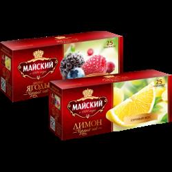 Чай Майский, лесные ягоды; лимон; клубника