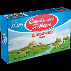 Масло сливочное, Деревенское подворье, 72,5%