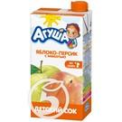 """Сок """"Агуша"""" Яблоко-персик с мякотью 500мл"""