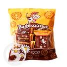 Конфеты вафельные с ароматом шоколада глазированные 250г