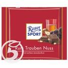 "Шоколад ""Ritter Sport"" молочный ром-изюм с орехом 100г"