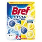 """Средство чистящее для унитаза """"Bref"""" Сила-Актив Лимонная Свежесть 50г"""