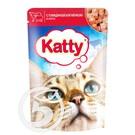 """Корм """"Katty"""" для кошек с говядиной и ягненком 85г"""