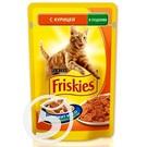 """Корм """"Friskies"""" Курица в подливе для кошек 100г"""