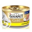 """Корм """"Gourmet"""" Gold Паштет с курицей для кошек 85г"""