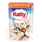 """Корм """"Katty"""" для кошек с телятиной и индейкой 85г"""