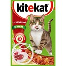 """Корм """"Kitekat"""" С говядиной в желе для взрослых кошек 85г"""