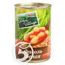 """Фасоль """"Global Village"""" белая в томатном соку 425мл"""