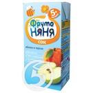 "Сок ""Фрутоняня"" яблочно-персиковый без сахара 200мл"