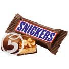 """Батончик """"Snickers"""" шоколадный Minis с арахисом и нугой"""