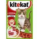 """Корм """"Kitekat"""" С говядиной в соусе для взрослых кошек 85г"""