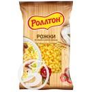 """Макароны """"Роллтон"""" Рожки гр.А в/с 400г"""
