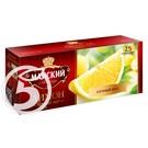 """Чай """"Майский"""" черный с лимоном 25пак*1,5г"""