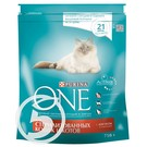 "Корм ""Purina One"" с лососем и пшеницей корм для кошек 750г"