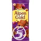 ALP.GOLD Шок.молоч.с фундук/изюм 90г