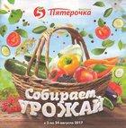 Каталог Пятерочка (Санкт-Петербург) с 3 по 24 августа 2017 («Собирай урожай»)